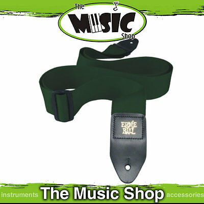 """Ernie Ball Polypro Forest Green Guitar Strap - 2"""" Wide - Length Adjustable - New"""