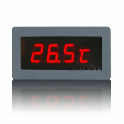 LED Einbauthermometer rot -30°+125°C Digital-thermometer LED-Thermometer DS18B20