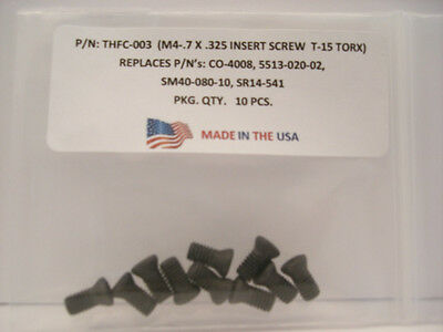 10 Pieces THFC-003 Insert Screw: CO-4008 .. 5513-020-02 .. TS-4.7-8M1 . SR14-541
