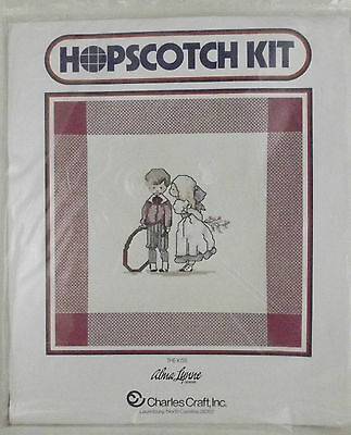 Charles Craft Cross Stitch Kit Hopscotch Kiss Alma Lynne Counted Embroidery MIP