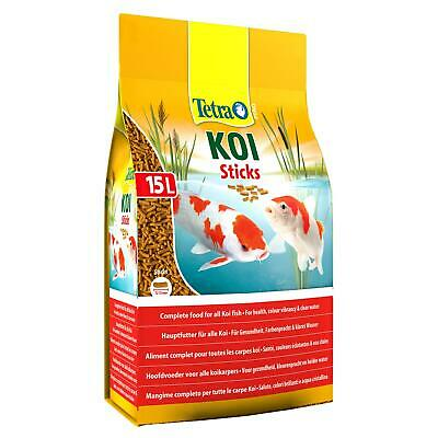 2350g 15 litre TETRA POND KOI STICKS FLOATING FISH FOOD DAILY SUMMER COLOUR DIET