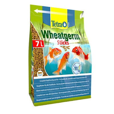 1400g 1.4kg 7 litre TETRA POND WHEATGERM STICKS KOI FISH AUTUMN/WINTER FOOD DIET