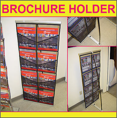 8-Pocket Literature Stand Trade Show Banner Brochure Rack Display (Brand New)