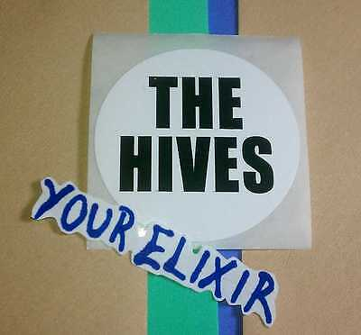The Hives Veni Vidi Vicious Black Writing Phone Case Board Small Round Sticker