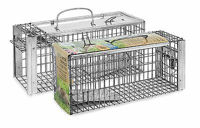 Stv088 Heavy Duty Rat & Squirrel Cage Trap Live Catch Humane No Poison Defenders