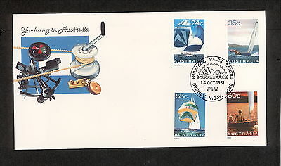 1981 FDC0836 YACHTING First Day Cover SYDNEY PHILATELIC CENTRE NSW 2000 Postmark