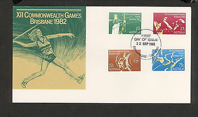 1982 FDC0862 COMMONWEALTH GAMES First Day Cover SEMAPHORE SA 5019 Postmark