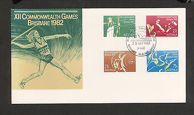 1982 FDC0862 COMMONWEALTH GAMES First Day Cover SYDNEY PHILATELIC 2000 Postmark