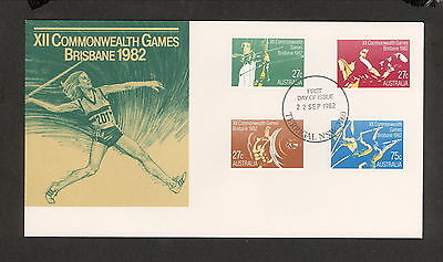 1982 FDC0862 COMMONWEALTH GAMES First Day Cover TERRIGAL NSW 2260 Postmark