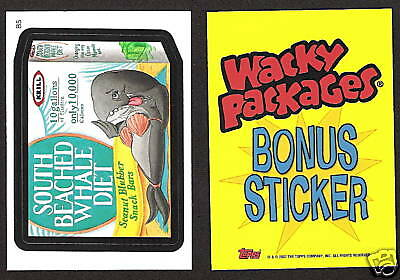 2007 Topps Wacky Packages ANS6 B5 Bonus SOUTH BEACHED WHALE DIET