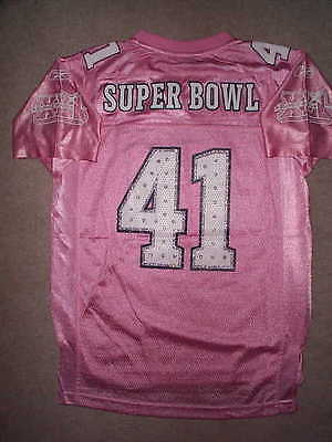 5e19e3dee PINK Bears vs Colts SUPER BOWL 41 (XLI) nfl REEBOK Jersey YOUTH KIDS (