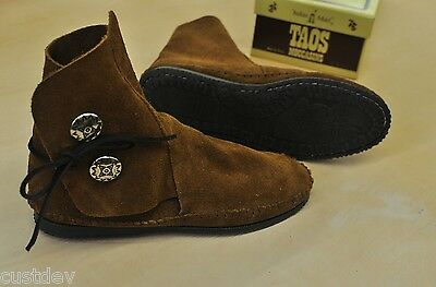 NEW TAOS MEN'S Brown Suede LEATHER Moccasins 3000MS With Rubber Soles