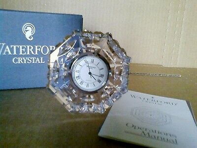 Waterford Crystal Clock, Octagonal, NIB New in Box