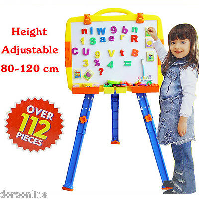 Kids Children Drawing Board Menegatic Educational White Board With Stand