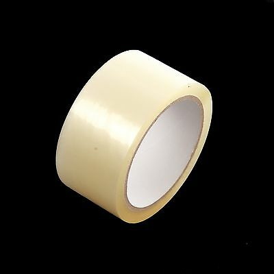 """6 ROLLS OF CLEAR LOW NOISE PACKING PARCEL PACKAGING TAPE 48mm x 66M (2"""")"""