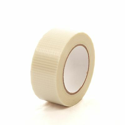 6 x ROLLS 25mm x 50m CROSSWEAVE REINFORCED PACKAGING TAPE