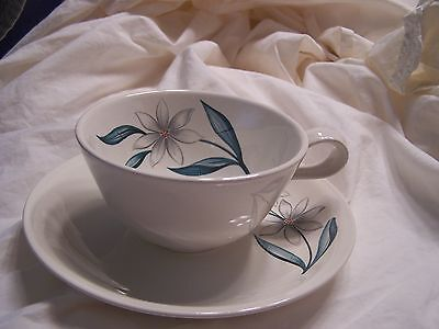 Vintage Homer Laughlin Debutante Bali Flower Cup And Saucer  (S) 1 +