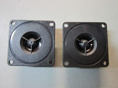 """2 NEW 3-3//8/"""" Bullet Horn Tweeters.150w.8ohm Replacement Speaker.3.375/"""".Square"""