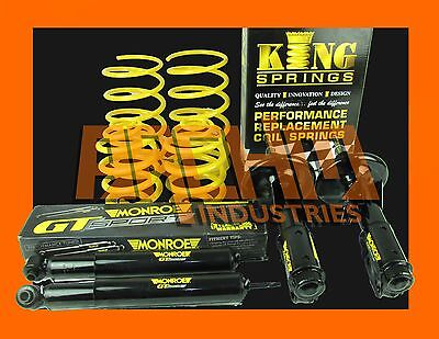 "VZ V6 COMMODORE SEDAN 30mm ""LOW"" KING SPRINGS AND MONROE GT SPORT STRUTS/SHOCKS"