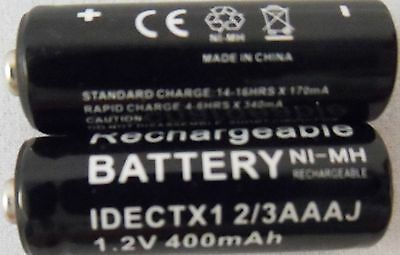 2 x iDECT X1 X1i 2/3AAA COMPATIBLE RECHARGEABLE BATTERIES