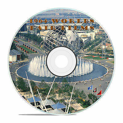 1964 New York Worlds Fair Unisphere Films On Dvd, Old Time Ny Fair Films - J09