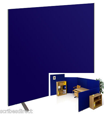 Free Standing or Linking Office Partition/Room Divider Screen Blue,black or Grey