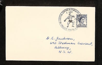 1962 APM01707.1 COMMONWEALTH GAMES, DISCUS Village Perth Postmark (2413.40)