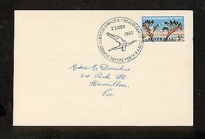 1962 APM01719.1 COMMONWELATH GAMES PERTH, DIVING Pictorial Postmark (2429.40)