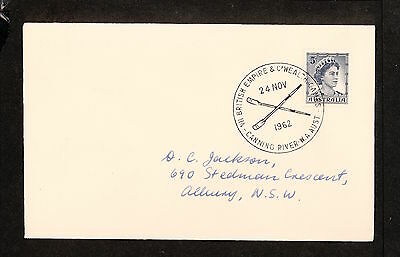 1962 APM01722.1 COMMONWEALTH GAMES, ROWING Canning River Postmark (2422.40)