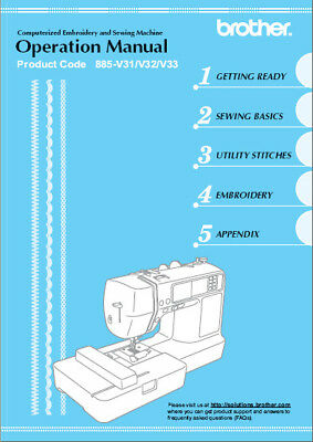 BROTHER SE-400 Embroidery and Sewing Machine Owner's MANUAL ON CD