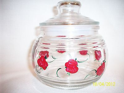 Hand painted Apple air tight jar
