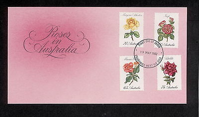 1982 FDC00846 ROSES First Day Cover BRUNSWICK WEST VIC 3055 Postmark