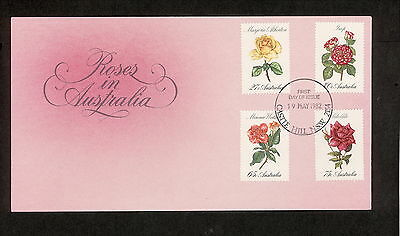 1982 FDC00846 ROSES First Day Cover CASTLE HILL NSW 2154 Postmark
