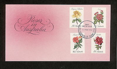 1982 FDC00846 ROSES First Day Cover HURSTVILLE NSW 2220 Postmark