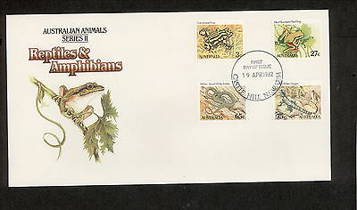 1982 FDC0801 ANIMALS 3c 27c 65c 75c FDC CASTLE HILL NSW 2154 Postmark