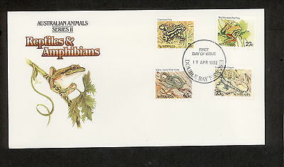 1982 FDC0801 ANIMALS 3c 27c 65c 75c FDC DOUBLE BAY NSW 2028 Postmark