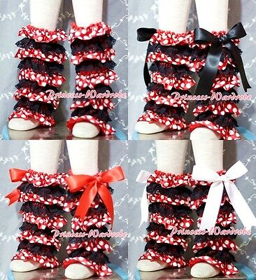 Baby Girl Minnie Black Lace Leg Warmer Stocking Accessory For Pettiskirt 2-6Y
