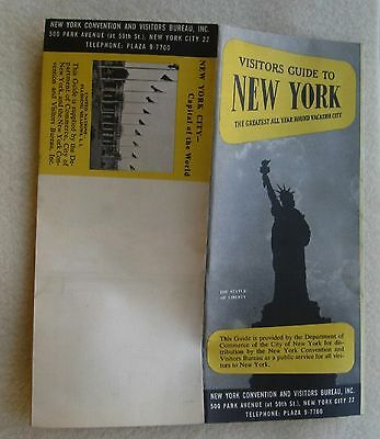 Travel Brochure For Visitors Guide To New York 1940's