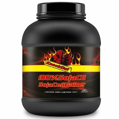 (1Kg - 3Kg) Cell Gainer 100% Soja Eiweiß Protein Soy Isolat KnockOut by BBGenics