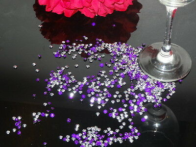 Duo Colours Wedding Table Scatter Crystals Diamond Confetti Favour Decoration