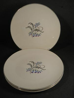 vtg Knowles Bluebells Lot 3 Dinner Plates Bluebells Pattern by Knowles