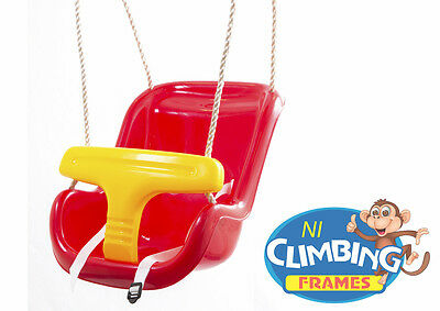 RED Baby Toddler Deluxe Swing Seat Ready assembled Climbing Frame Set Jungle Gym