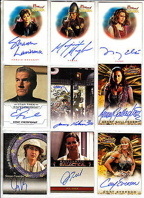 TRADING CARDS:Planche N° 18      COSTUMES,AUTOGRAPHS  divers