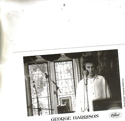 George Harrison at Mic Capitol Records Promo Photo by Radical Media B&W Glossy