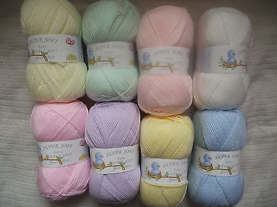 100g Super Soft Baby Double Knitting Wool - James C Brett - Choice of Colours