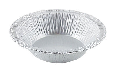 "Wilkinson A90 3 3/8"" Aluminum Foil Tart Pan 25 PK -Disposable Mini-Pie Tin Plate"