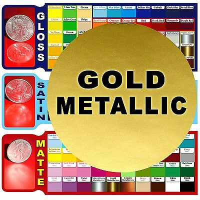 "5 rolls 6"" Metallic GOLD Adhesive Backed Vinyl craft/sign Cutters Die/Punch cut"