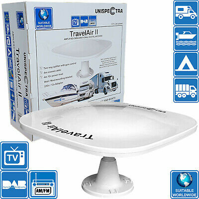 Motorhome Caravan Boat Digital Active Omni Directional Tv Aerial Freeview