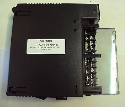 GE FANUC SERIES 90-30 IC693MDL931A Output Relay 8A Form B-C 8pt. Module