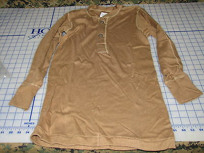 undershirt cold weather USGI long sleeve size small military cotton wool mix NEW